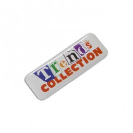104782 Trends Collection Button Badge Rectangle 25 x 70mm