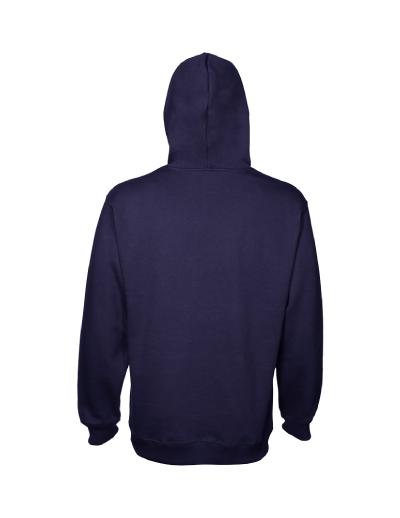 Navy Hoodie Back Fashion Ql