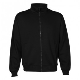ZSI-unisex-zip-sweat-black-front