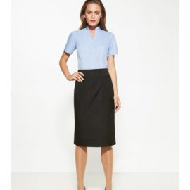 20211 Biz Corporates Pinstripe Relaxed Fit Skirt