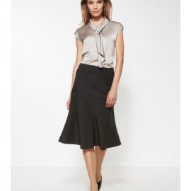 24013 Biz Corporates Fluted 3/4 length skirt