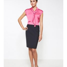 24014 Biz Corporates Ladies Chevron Band Skirt