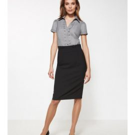 24016 Biz Corporates Ladies Waisted Pencil Skirt