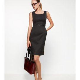 30111 Biz Corporates Sleeveless Side Zip Dress