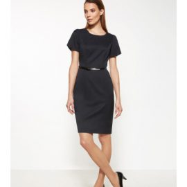 30112 Biz Corporates Ladies Short Sleeve Shift Dress