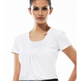 k123ls Biz Collection Ladies Deco Top