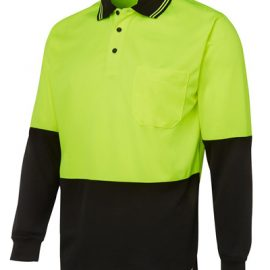 6HVPL JBs Hi Viz Long Sleeve Trad Polo