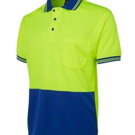 6HVPS JBs Hi Vis Short Sleeve Traditional Polo