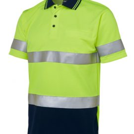 6HVSTEN JBs Hi Vis Short Sleeve Day & Night Traditional Polo