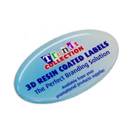 The Trends Collection Resin Coated Labels 74 x 43 Oval are resin coated adhesive labels suitable for permanent branding.  In 4 colours.  Branded Labels.