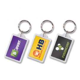 The Trends Collection Rectangular Lens Key Ring is our most popular style of key ring.  Can have numbering attached per unit at additional cost.  Full colour print.