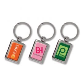 The Trends Collection Rectangular Metal Key Ring is a metal key ring branded on one side.  Available in Shiny Chrome.  Great promotional product for businesses and clubs.