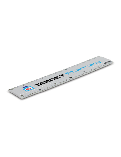 The Trends Collection 15cm Mini Ruler is a small plastic ruler in cm and inches. Available in White. Can be branded in a variety of ways and sizes. Great promotional stationary product.