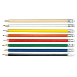 The Trends Collection HB Pencil is a full size round HB pencil with an eraser. Available in 8 colours. Great branded HB pencils for you and your clients.