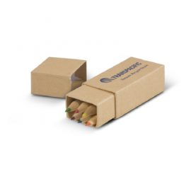 The Trends Collection Coloured Pencil Set is a set of 6 coloured pencils in a robust cardboard presentation box. Available in Natural.