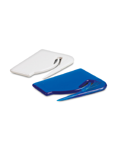 The Trends Collection Letter Opener and Satchel Cutter is a very effective item for opening letters and courier satchels. Available in White.