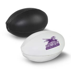 The Trends Collection Mini Rugby Ball inflatable mini rugby ball.  Available in 2 colours.  Pad printing available.  Great sports promotional product.