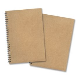 The Trends Collection Eco A5 Note Pad is an A5 side opening notebook with 60 lined pages.  Made from 100% recycled paper.  Natural with wire binding.