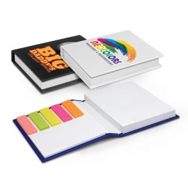 The Trends Collection Hard Cover Notes and Flags are a stylish hard cover note book containing 2 sized pads of sticky notes and pad of bright coloured flags.