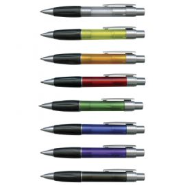 The Trends Collection Matrix Pen is a retractable plastic ball pen with soft rubber grip. 8 colours available. Branded with your logo. Great promo product.