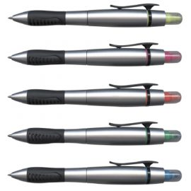 The Trends Collection Duo Pen with Highlighter is a twist action ball pen. Available in 5 colours. Great branded multi function promotional pen.