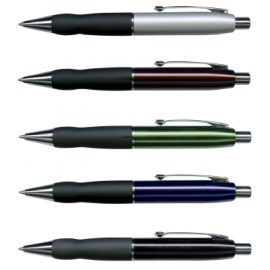The Trends Collection Turbo Pen is a retractable brass barrel ball pen.  Laser engraves to a brass colour.  3 colours.  Great branded promotional metal pen.