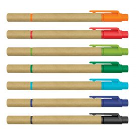 The Trends Collection Eco Pen Highlighter is an eco friendly ball pen.  7 colours available.  Built in Highlighter.  Great branded promotional pen.