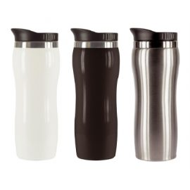 The Trends Collection Columbia Thermal Mug is a 400ml thermal mug. In White, Black and Silver. Great branded promotional thermal drinkware.