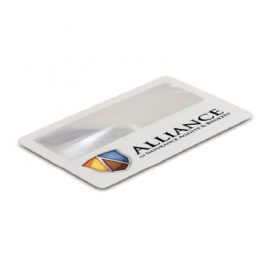 The Trends Collection Card Magnifier is a handy credit card sized magnifier. Available in White & can be branded by pad print or direct digital printing.