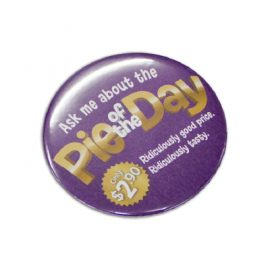 The Trends Collection Button Badge Round 75mm is a 75mm pin on button badge. Full colour print.  Great branded promotional product for all ages and events.
