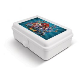 The Trends Collection Lunch box is a solid plastic lunch box with 2 handy internal dividers. Available in White. Great branded promotional product - ideal for kids!