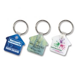 The Trends Collection House Flexi Resin Key Ring is a flexible key ring with durable resin coated finish.  Great branded promotional key ring - perfect for real estate.