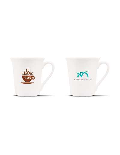 The Trends Collection Tudor Coffee Mug is a latte style 300ml porcelain coffee mug. Great branded promotional mug product for corporate gifts and everyday use.