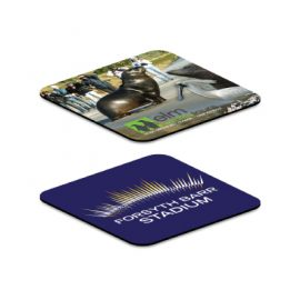 The Trends Collection Flexicoaster is a flexible, anti-slip rubber backed coaster.  Reusable.  Great branded, sublimated drinkware & hospitality product.