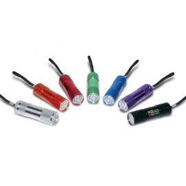The Trends Collection Nebula Torch is a good quality metal torch,  9 powerful LEDs.  6 anodised colours.  Great branded practical promotional torch product.