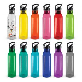 The Trends Collection Trans Nomad Drink Bottle is a recyclable 750ml drink bottle.  Dishwasher safe. 12 colours.  3 lid styles.  Great branded promotional drink ware product.