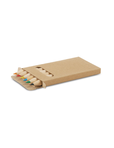 The Trends Collection Coloured Pencil Pack is 6 assorted colour pencils in a cardboard box. Available in Natural. Great branded promotional stationery product.