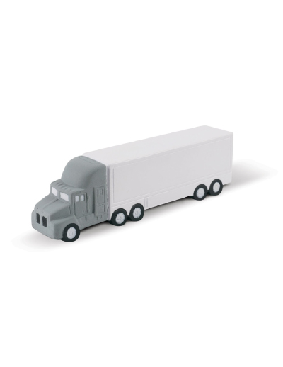 The Trends Collection Stress Truck is a truck shaped anti stress toy made from P.U. In White with Grey & Black Trim. Great branded promotional stress product.