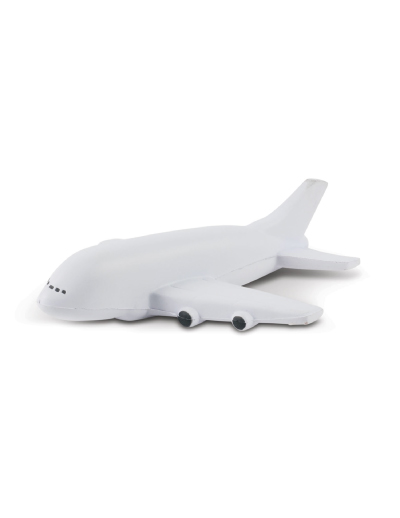 The Trends Collection Stress Plane is a plane shaped anti stress toy made from P.U.  Available in White with Black Trim.  Great branded anti stress promotional product.