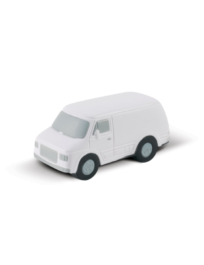 The Trends Collection Stress Van is a van shaped anti stress toy made from P.U. White with Grey & Black Trim. Great branded anti stress promo product.