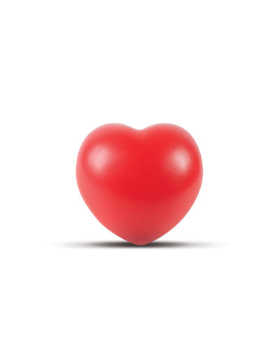 The Trends Collection Stress Heart is a heart shaped anti stress toy made from P.U. Available in Red. Great branded anti stress promotional product.