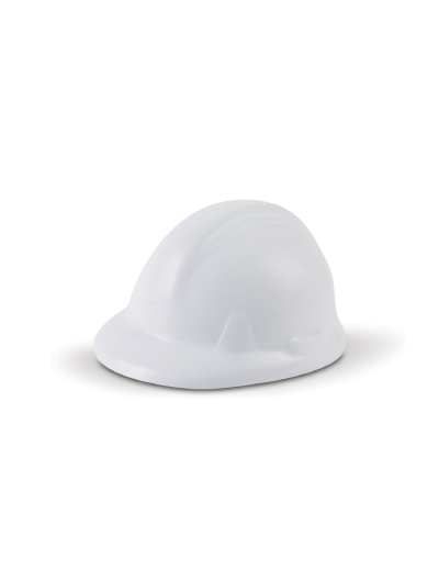 The Trends Collection Stress Hard Hat is a hard hat shaped anti stress top made from P.U. White. Great branded anti stress promotional product.