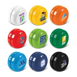 The Trends Collection Yoyo is a low cost, fully function promotional yoyo.  Great branded novelty promotional product giving fun for everyone.