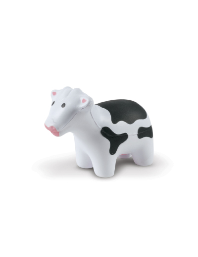 The Trends Collection Stress Cow is a cow shaped anti stressed toy made from P.U. White with Pink & Black Trim. Great branded animal anti stress promo product.