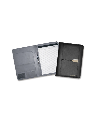 The Trends Collection Sovrano Leather A4 Portfolio is a highest quality A4 size bonded leather luxury compendium. Great branded business promotional product.