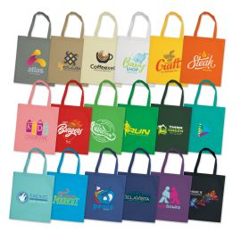 The Trends Collection Viva Tote Bag is a standard reusable tote bag with long handles.  80gsm.  18 colours.  Great branded bags for retail promotional products.
