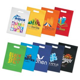 The Trends Collection Gift Tote Bag is a gift size, heat sealed tote bag with die cut hand grips.  9 colours.  Great branded promotional retail bag product.