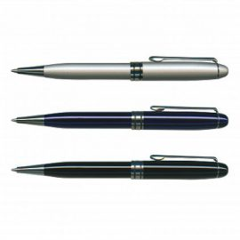 The Trends Collection Supreme Pen is a twist action brass barrel ball pen.  3 colours available.  Great branded smart promotional pen product.