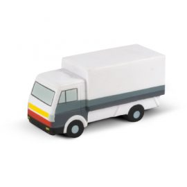 The Trends Collection Stress Small Truck is a small truck shaped anti stress toy made from P.U.  White with Grey trim.  Great branded anti stress promo product.