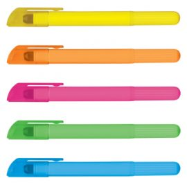 The Trends Collection Wax Highlighter is a highlighter manufactured from wax. Never dries up. Great branded promotional stationery products. 5 colours.